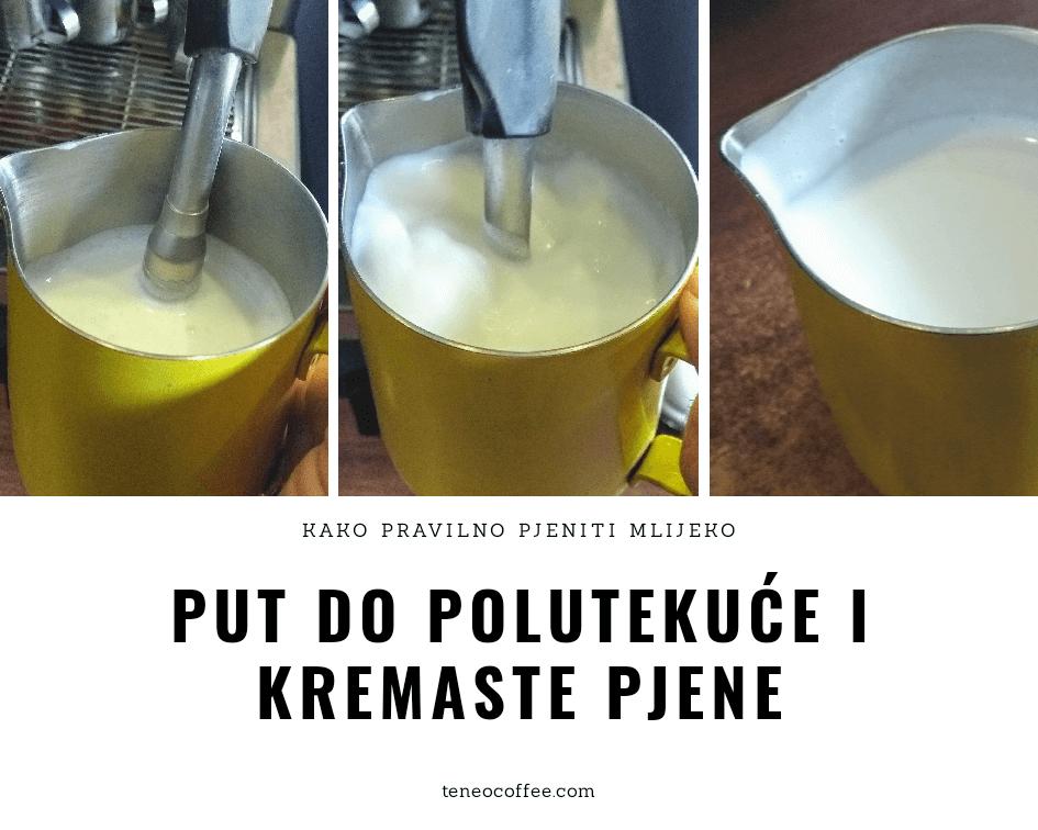 Kako pravilno pjeniti mlijeko.